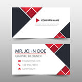 Red triangle corporate business card, name card template ,horizontal simple clean layout design template , Business banner. Template for website Royalty Free Stock Image