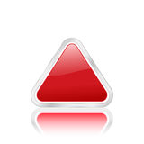 Red triangle icon 2 Royalty Free Stock Photo