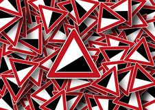 Red, Triangle, Pattern, Design royalty free stock photos