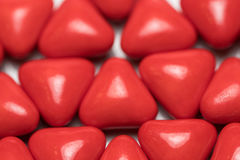 Red triangle pills Royalty Free Stock Photos
