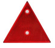 Red triangle reflector safety glass isolated on wh Stock Photos