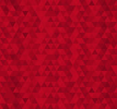 Red triangle tiles seamless pattern, vector background. Royalty Free Stock Photography