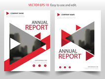 Red triangle Vector Brochure annual report Leaflet Flyer template design, book cover layout design, abstract business presentation. Template, a4 size design royalty free illustration