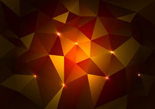 Red Triangles Dark Stock Photography