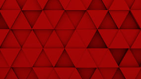 Red triangles extruded background 3D render. Red triangles extruded. Abstract geometric background. 3D render illustration Stock Photo