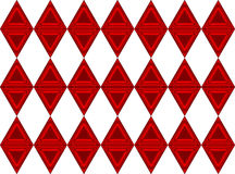 Red triangles. Royalty Free Stock Photography