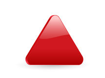 Red triangular 3d icon 2 Royalty Free Stock Photo