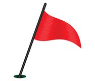 Red triangular flag Royalty Free Stock Photography