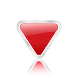 Red triangular icon Royalty Free Stock Images
