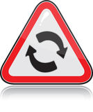 Red triangular other warning sign Royalty Free Stock Images