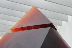 Red Triangular Shape Ornament Stock Image