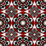 Red tribal vintage seamless pattern grunge texture Royalty Free Stock Photos