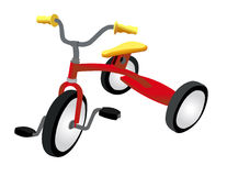 Red tricycle Royalty Free Stock Images
