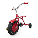 Red tricycle. Against a white background. High quality 3D rendered illustration Stock Images