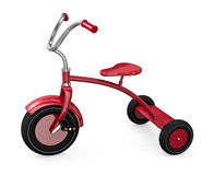 Red tricycle. Against a white background. 3D rendered illustration Stock Photo