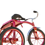 Red tricycle Royalty Free Stock Image