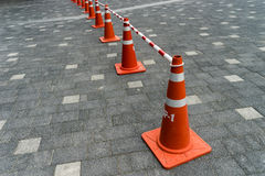 Red Triffic cone Stock Image