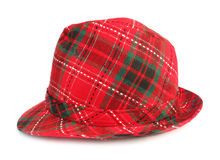 Red trilby hat Royalty Free Stock Image