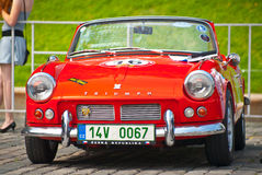 Red Triumph Spitfire Royalty Free Stock Photos