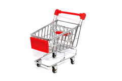 Red trolley cart Stock Photos