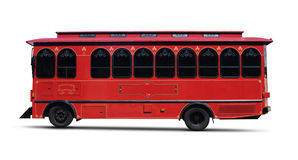 Red Trolly — Clipping Path Stock Photo