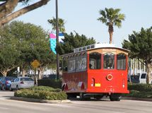 Red Trolly 2 stock image