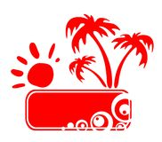 Red tropic frame Stock Images
