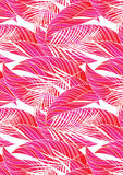Red tropical leaves. Vector illustration of some tropical leaves in a repeat pattern Royalty Free Stock Photos