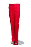 Red trousers isolated Royalty Free Stock Photo