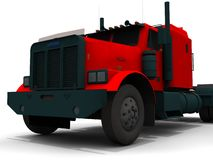 Red truck. An illustration of a red truck in a white background Royalty Free Stock Photography
