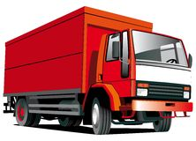 Red truck. Detailed ial image of  red truck isolated on white background Stock Images