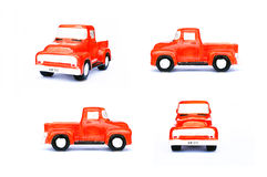 Red truck. On white background Stock Photography
