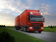 Free Red Truck Royalty Free Stock Photography - 45098097