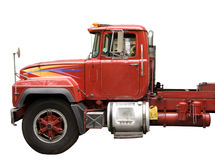 Red  truck. Isolated in white Stock Images