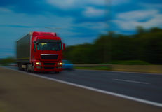 Red Truck. With blurry background Stock Photos