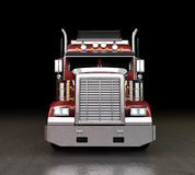 Truck at night. Red truck with bright lights at night Royalty Free Stock Images