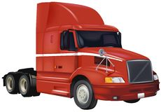 Red Truck Stock Photography