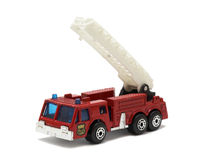 Red truck with crane Royalty Free Stock Image