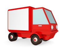 Red truck isolated on white background. Royalty Free Stock Images