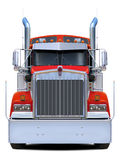 Red truck Kenworth w900 front view. Stock Image