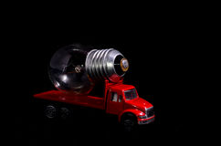 Red Truck Light Bulb Stock Photo