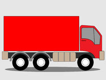 Red truck lorry. An Illustration of Red truck lorry. Advertising text or image may be added on the image Royalty Free Stock Images