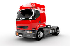 Red transport truck Stock Photo