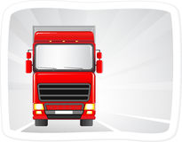 Red truck on the road Royalty Free Stock Photography