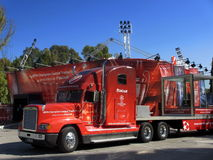 The red truck of the Uefa Champions League Trophy Royalty Free Stock Photos