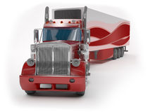 Red truck Stock Image