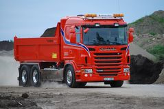 Red Truck Scania royalty free stock photos