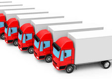 The red trucks Royalty Free Stock Images