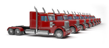Red trucks Stock Photography