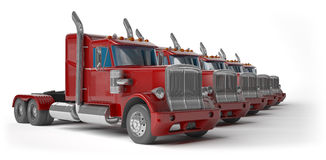 Red trucks Royalty Free Stock Photography